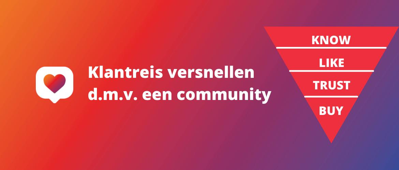 Klantreis versnellen door middel van een community