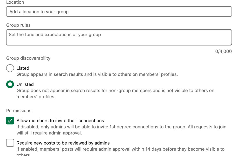 LinkedIn groep opzetten