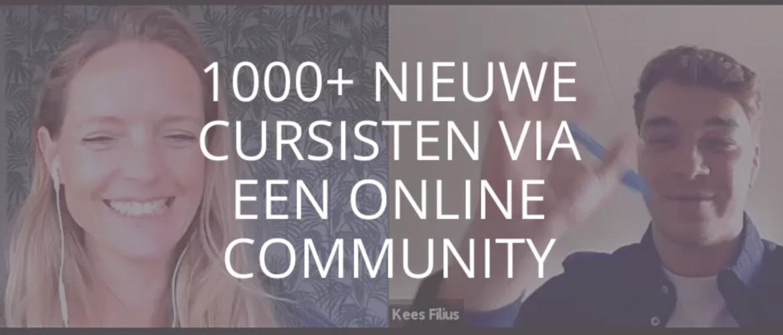 1000+ nieuwe cursisten via een online community