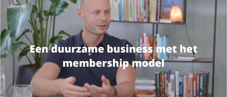 Een duurzame business met het membership model