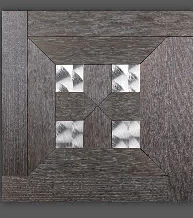 Zwart eiken platinum met rvs inlays