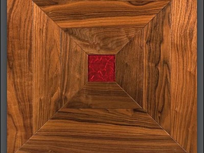 Cross of Saint Andrews Amerikaans noten paneel