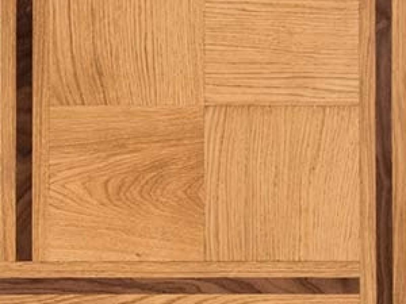 Quadro vierkant paneel eiken en Amerikaans notenhout