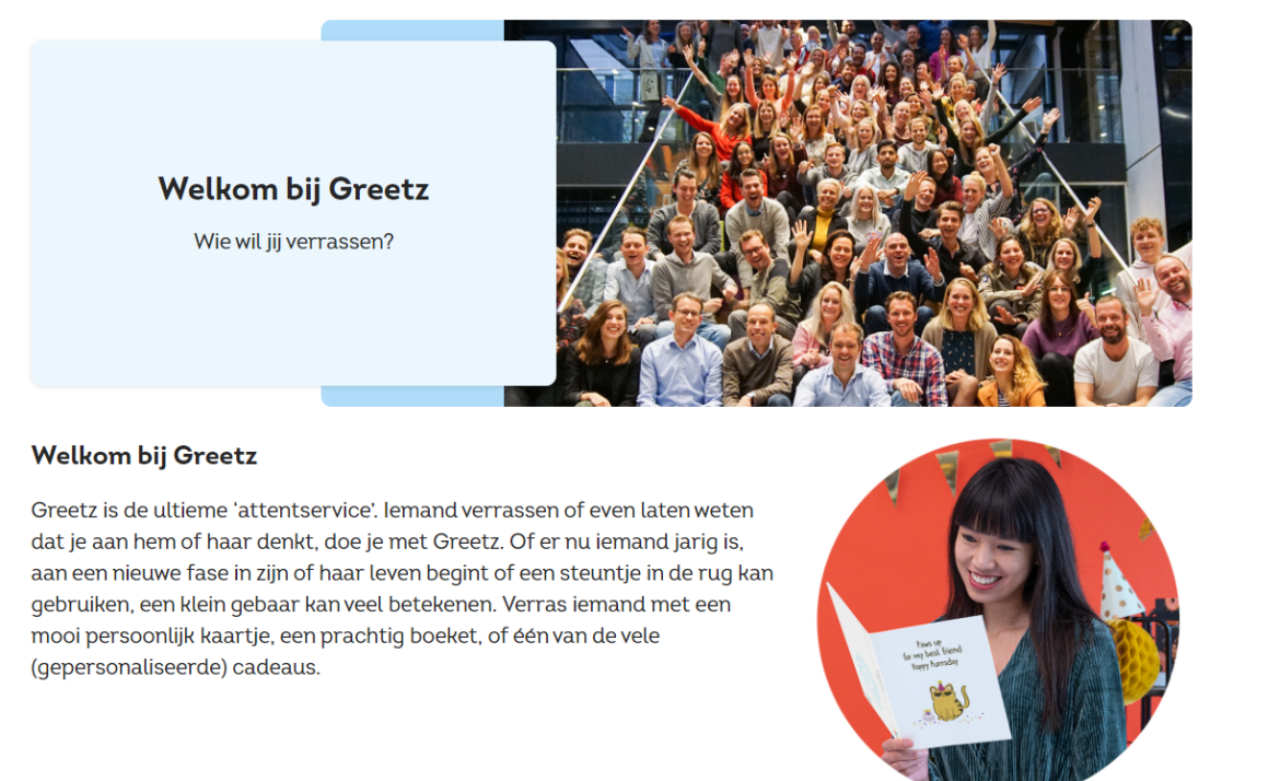 Greetz over ons pagina