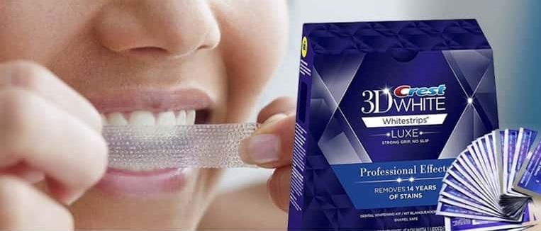 Crest white teeth strips
