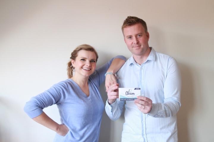 Sarah and Glenn with GleamWhite Whitestrips