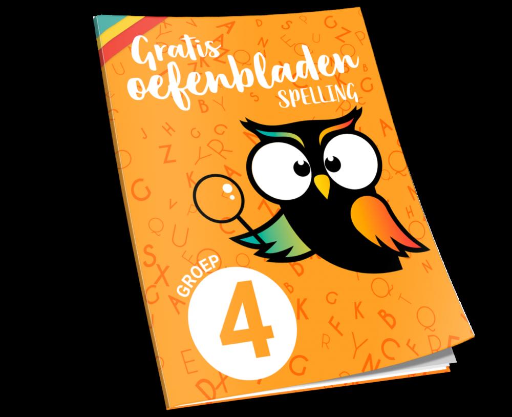 gratis oefenbladen spelling groep 4