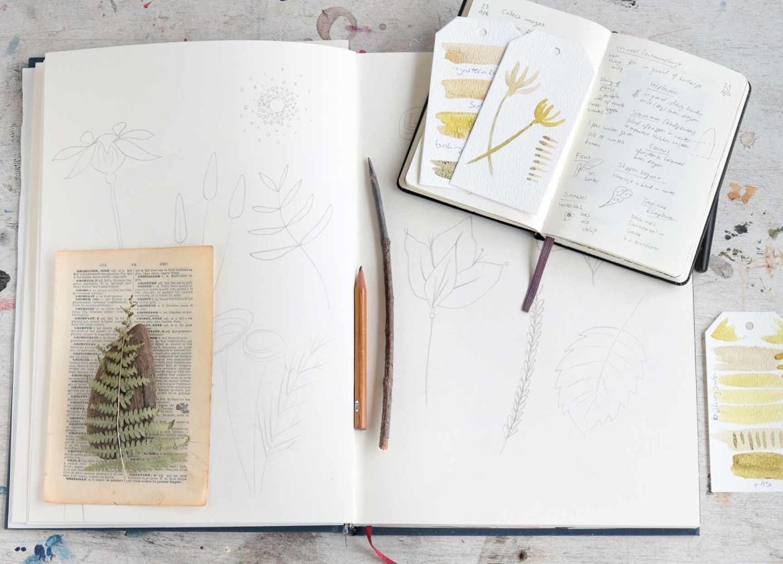 schetsboek natuurinspiratie