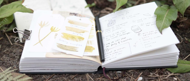 Leg je wildpluk kennis vast in een natuurdagboek