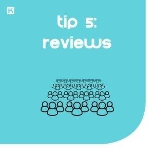 Tip 5: Toon minstens 3 reviews