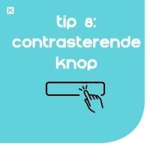 Tip 8: Zet een contrasterende knop boven de vouw
