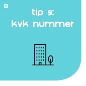 Tip 9: Schep vertrouwen met je KVK nummer en btw-id