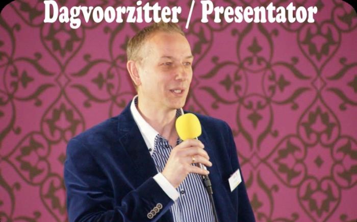Dagvoorzitter en presentator Wil Hendriks