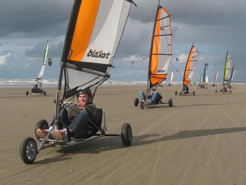strandzeilen in Wijk aan Zee
