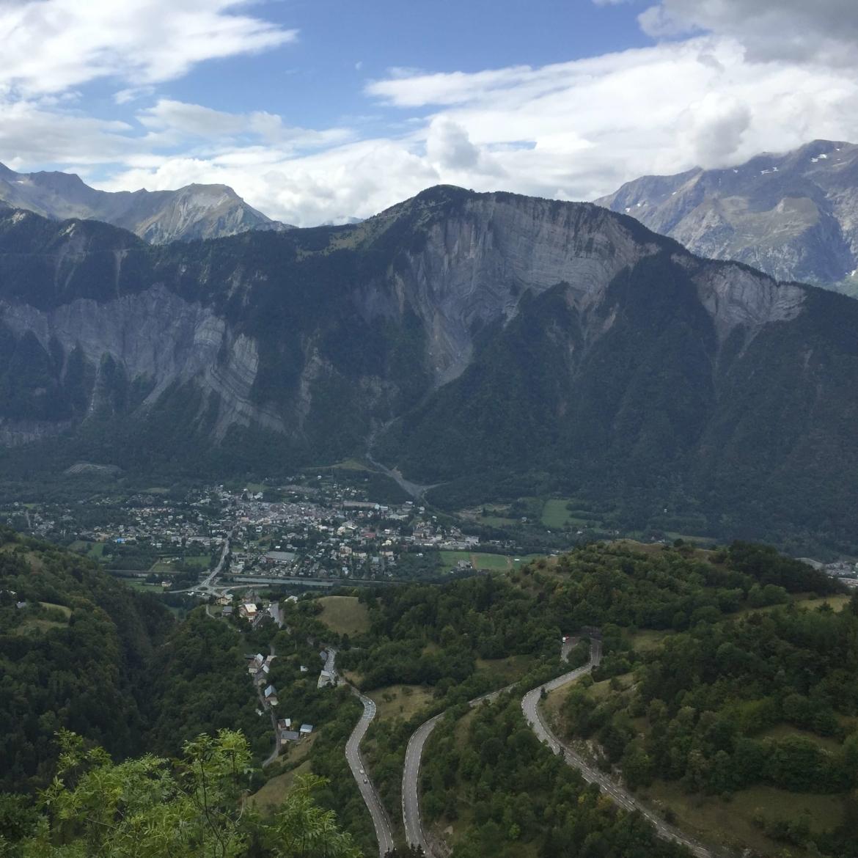 De Alpe d'Huez in Frankrijk