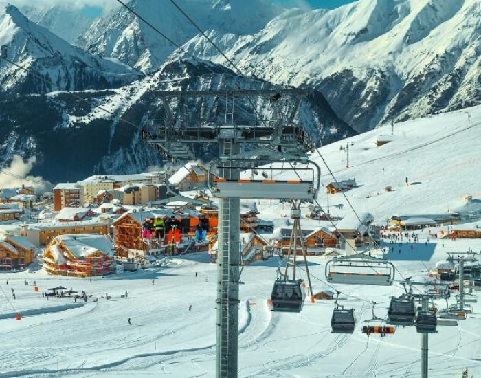 Beginnerspistes op de Alpe d'Huez