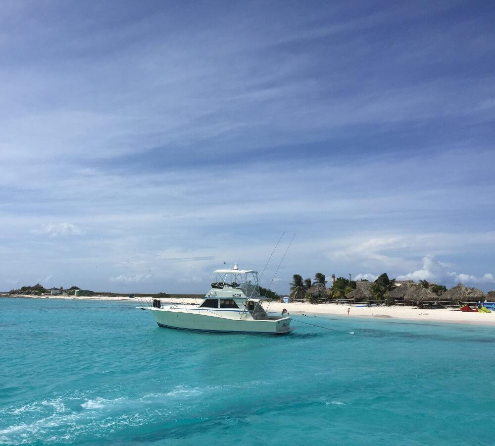 Boottrip naar Klein Curaçao