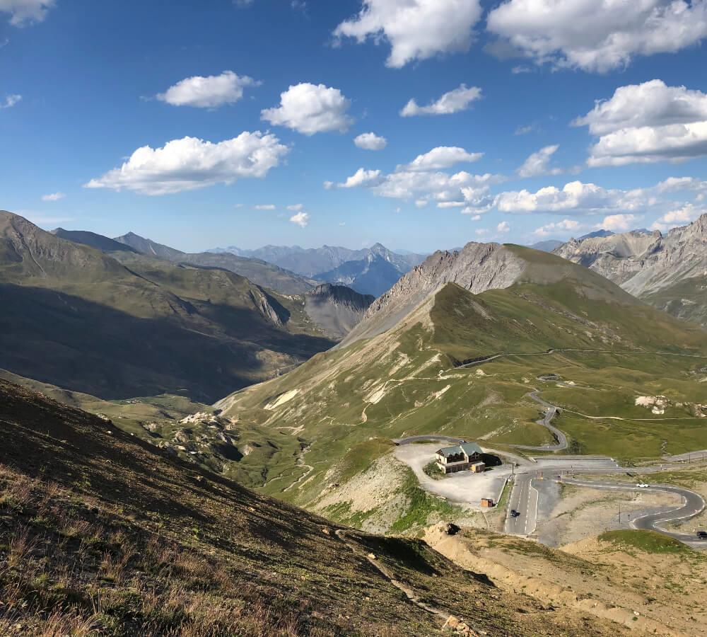De top van de Col du Galibier