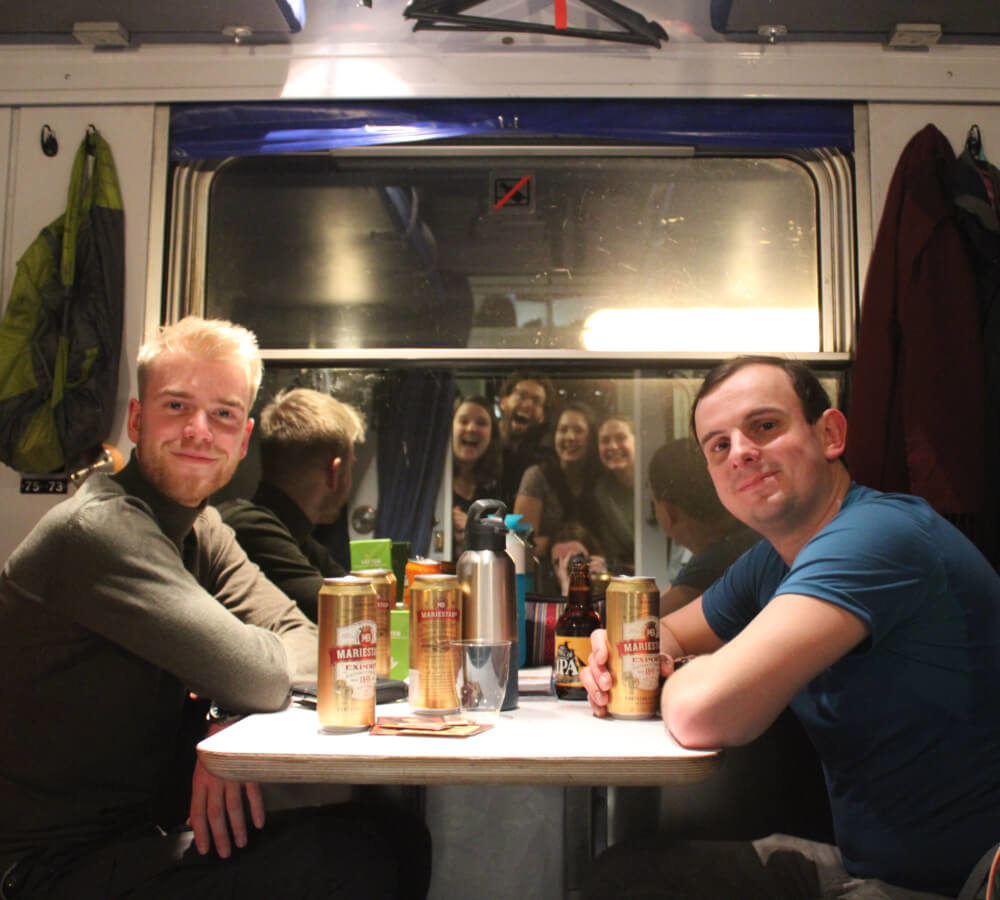 De nachttrein naar Zweeds Lapland