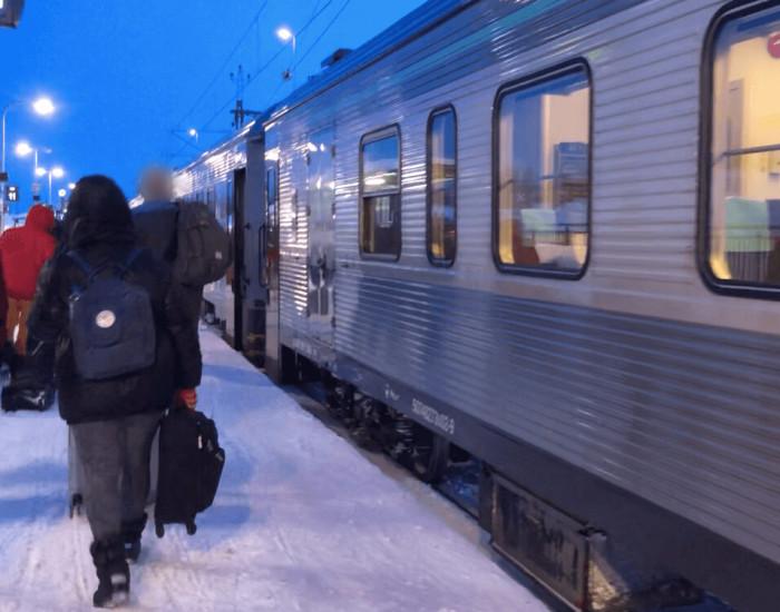 Met de nachttrein naar Zweeds Lapland