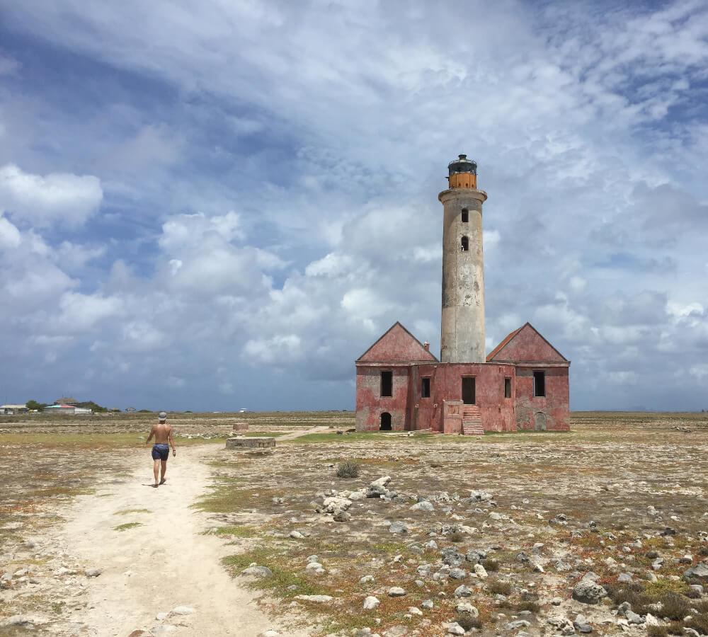 De vuurtoren op Klein Curaçao