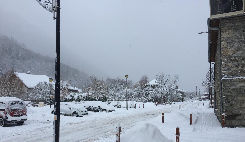 De nieuwe skilift in Allemond