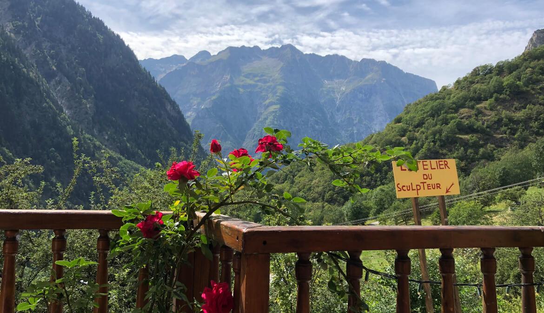 Het uitzicht vanuit een restaurant in Vénosc