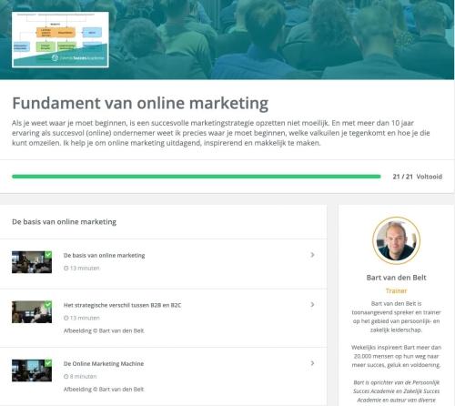 Training Fundament van online marketing