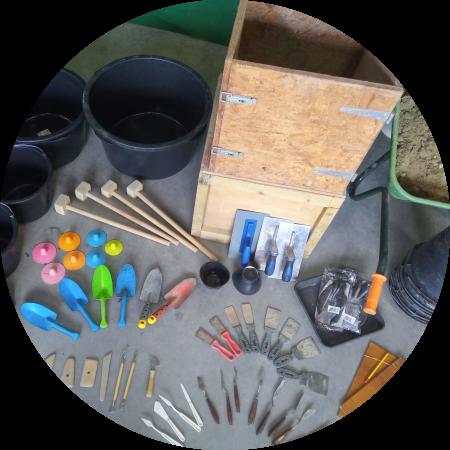 Alle DIY workshopmaterialen bij elkaar