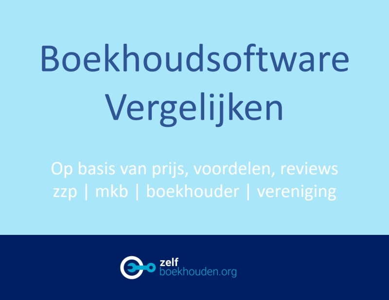 Boekhoudprogramma en boekhoudsoftware zzp mkb vof eenmanszaak BV vergelijken met reviews