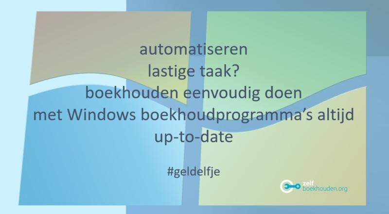 Windows boekhoudprogramma eenvoudig te leren
