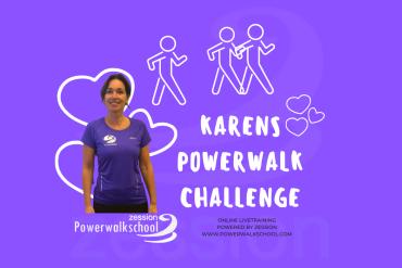 Karens Powerwalk Challenge Powerwalkschool Zession