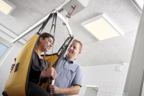 Plafondliften van ergocare in ZIC Papendrecht