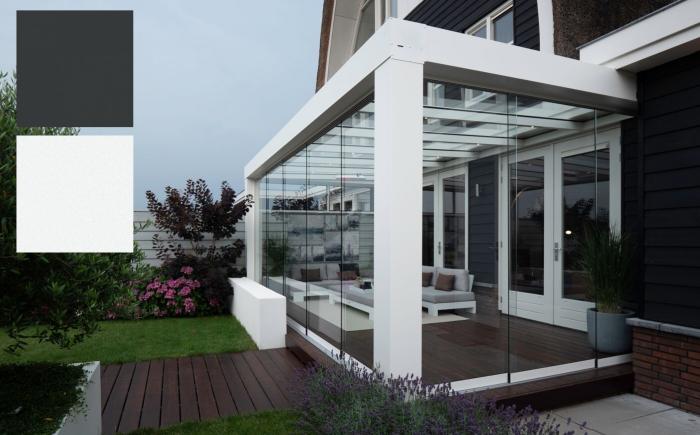 Verasol Highline Cube standaard kleuren antaciet en wit-zsm zonwering