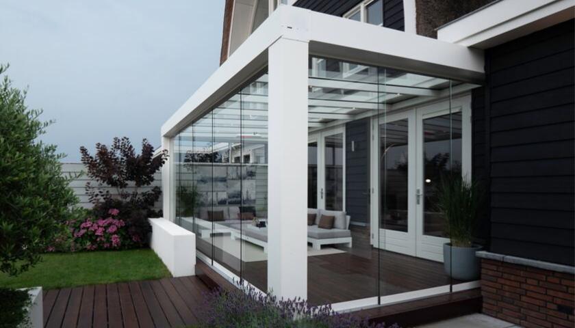 Verasol Highline Cube optimale transparantie met glas-zsm zonwering