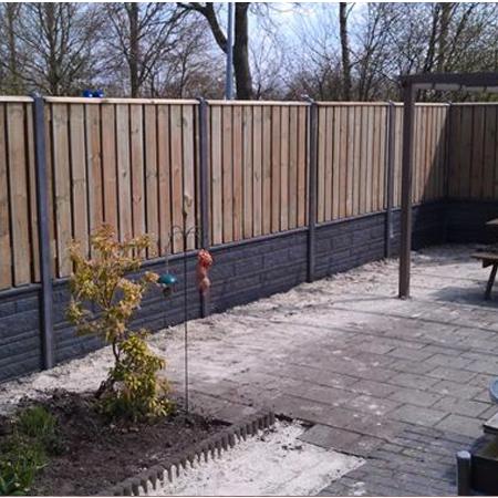 Aanbieding luxe hout-betonschutting