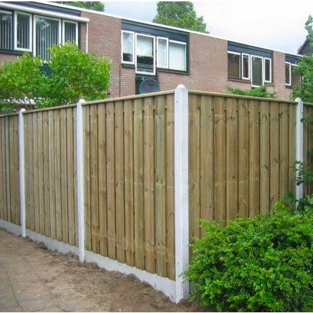 Aanbieding standaard hout-betonschutting