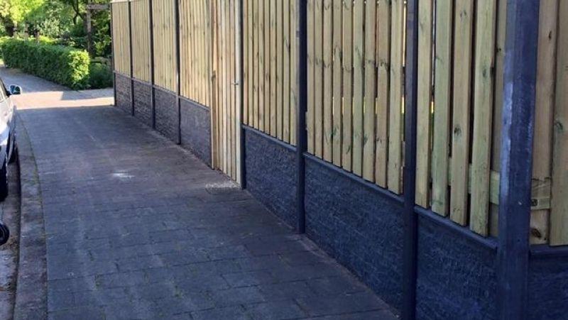 afdekkap luxe betonschutting onder