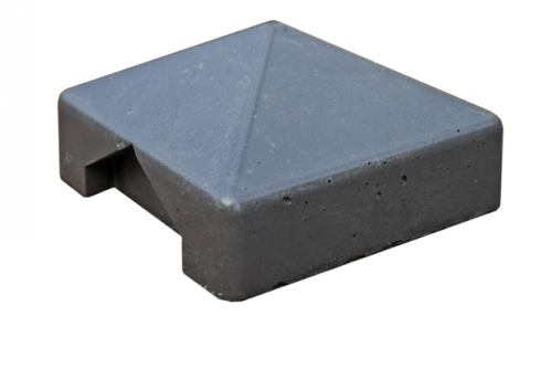 Betonnen afrastering of lage tuinafscheiding: betonmutsen