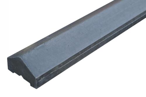 Betonnen afrastering of lage tuinafscheiding: afwerking betonnen palen
