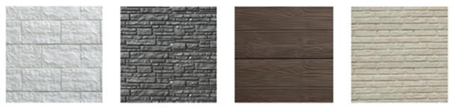 Kleuren beton standaard hout-betonschutting