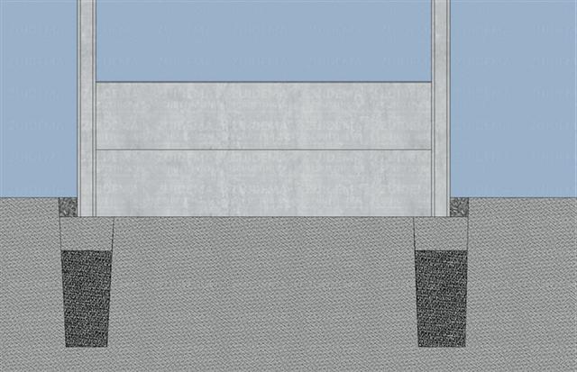 Stort de betonmortel in het gat en vul deze aan met aarde.