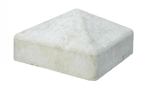 Betonschutting: betonmutsen