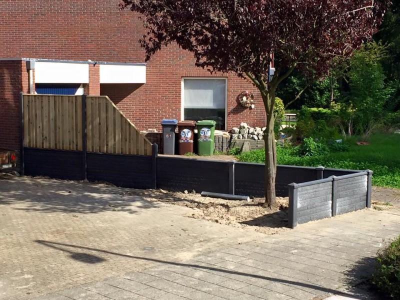 Betonnen afrastering of lage tuinafscheiding laten plaatsen