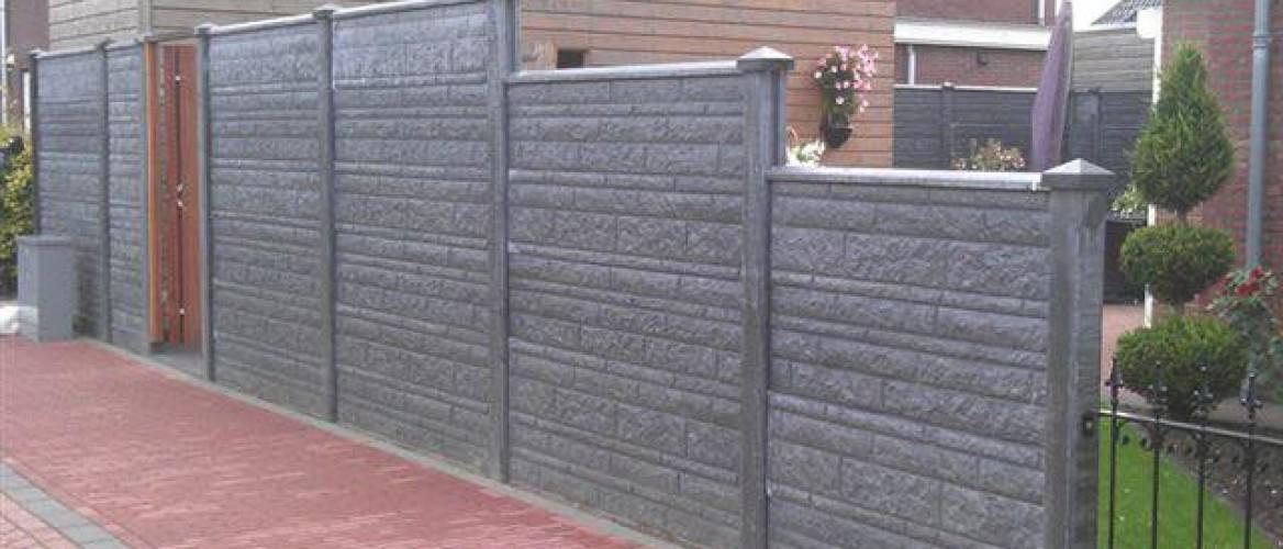 Tuinafscheiding van beton