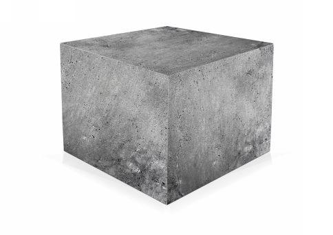 verschil gewapend beton stampbeton kubus