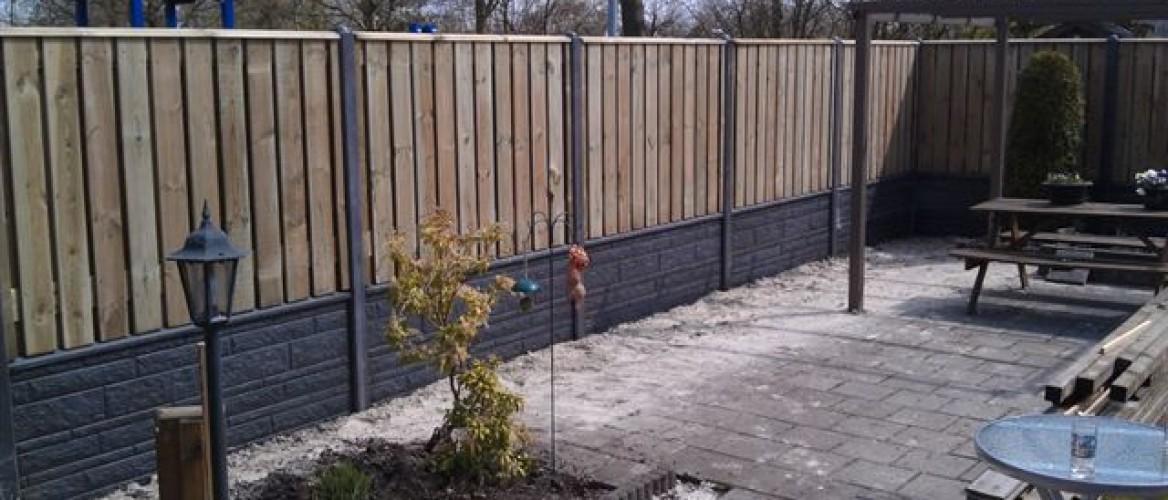 Goedkope hout-betonschutting