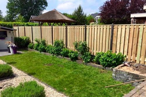 Standaard hout-betonschutting Grenen Hout