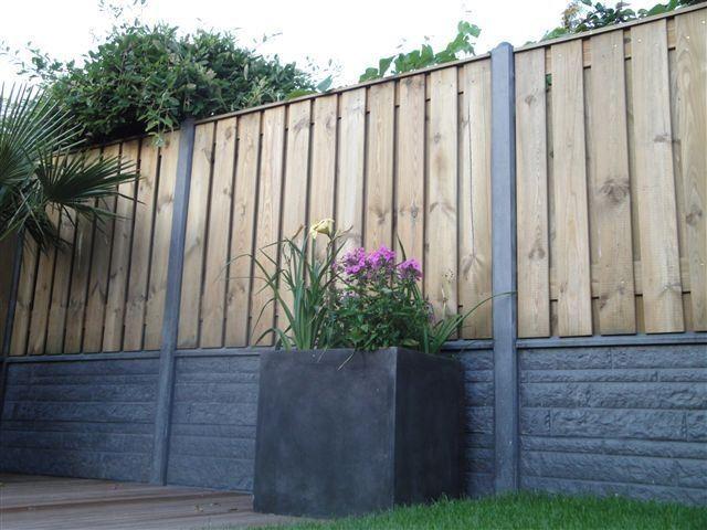 Groothandel hout-betonschutting