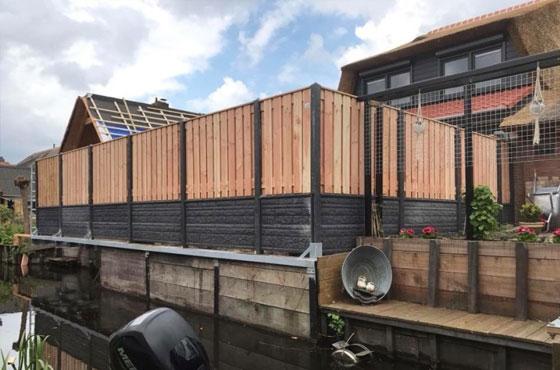 Inspiratie opdoen luxe houtbetonschutting
